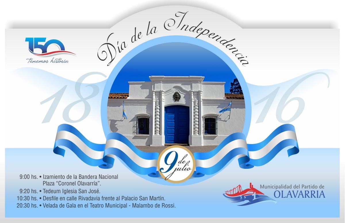 Flyer 9 de julio dia independencia municipalidad del for Sala 9 de julio