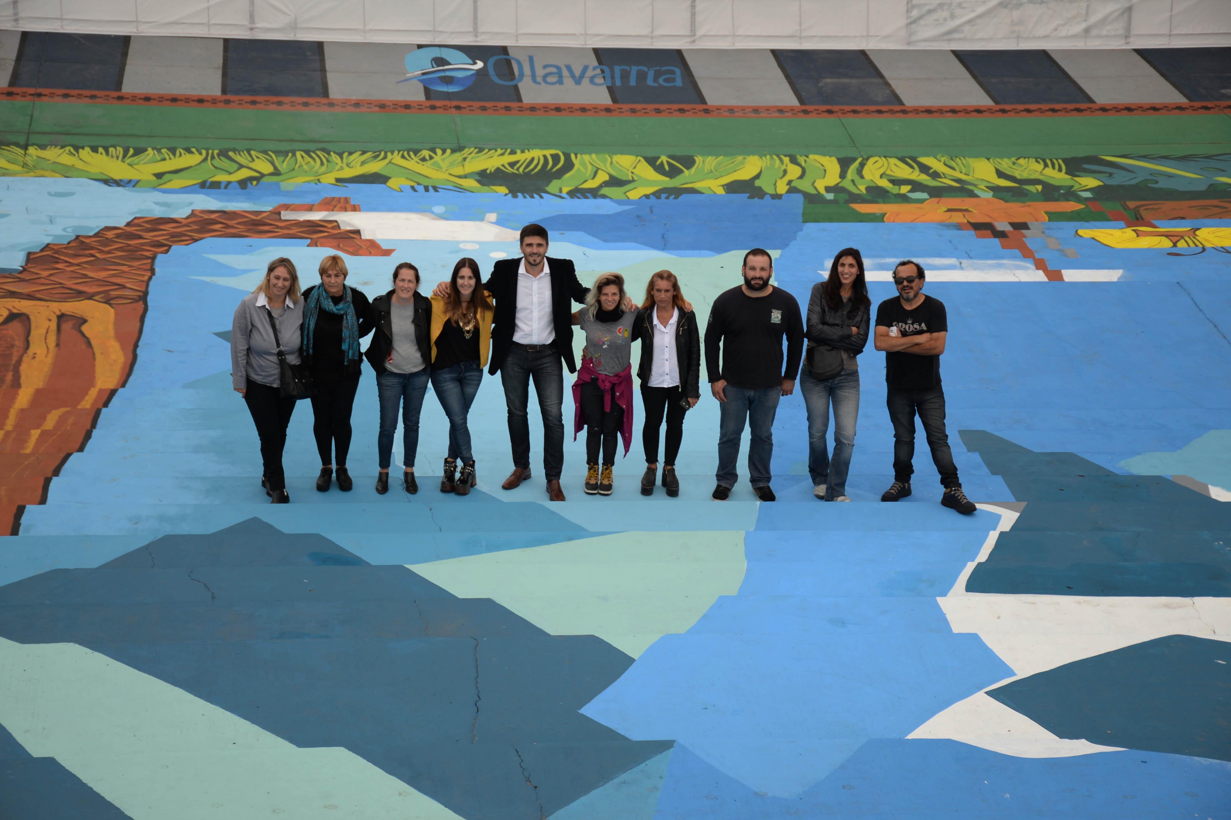 El Mural Biodiversidad Se Luce En Las Escalinatas De La Casa Del